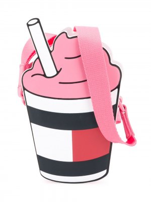 Сумка на плечо Ice Cream с логотипом Tommy Hilfiger Junior. Цвет: розовый