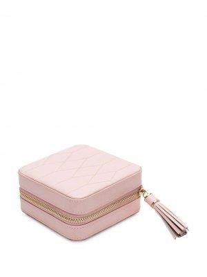 Стеганая шкатулка для украшений WOLF. Цвет: розовый