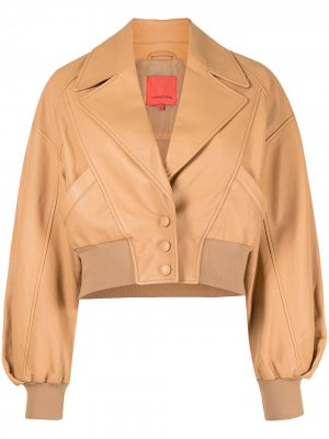Куртка с заостренными лацканами Manning Cartell. Цвет: коричневый