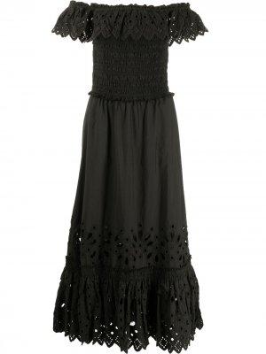 Платье Hazel со сборками Sea. Цвет: черный