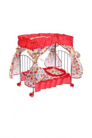 Кроватка Карапуз. Цвет: бордовый