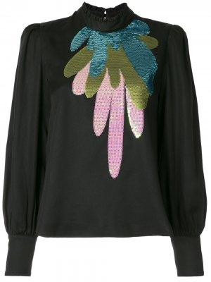 Блузка Candice с пайетками Cynthia Rowley. Цвет: черный