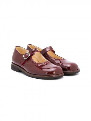 Лакированные туфли Мэри Джейн Gallucci Kids. Цвет: красный