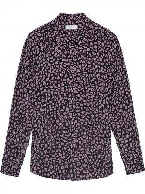 Рубашка Leema с леопардовым принтом Equipment. Цвет: черный