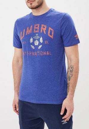 Футболка Umbro. Цвет: синий