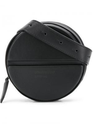 Круглая поясная сумка с логотипом Dsquared2. Цвет: черный