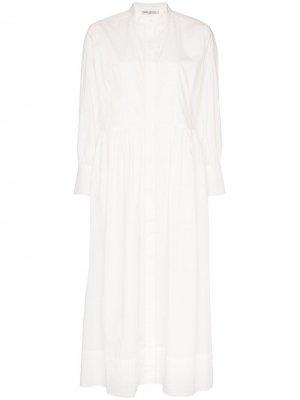 Платье-рубашка Peppa длины миди Three Graces. Цвет: белый