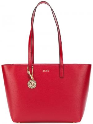 Средняя сумка-ведро Satton Donna Karan. Цвет: красный