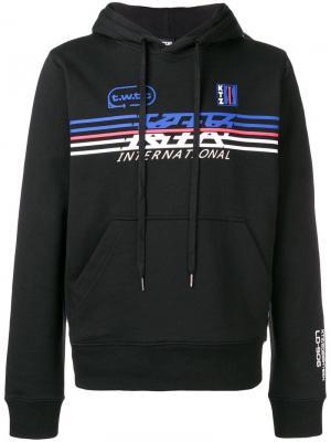 Спортивная толстовка с капюшоном и логотипом KTZ. Цвет: черный