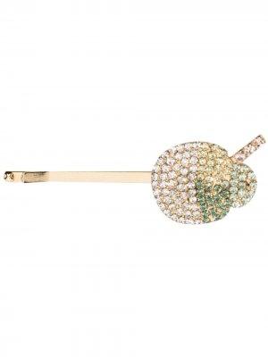 Декорированная заколка для волос Rosantica. Цвет: золотистый