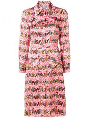 Платье-рубашка со звериным принтом Ultràchic. Цвет: розовый