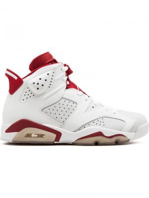 Кроссовки Air  6 Retro Jordan. Цвет: белый