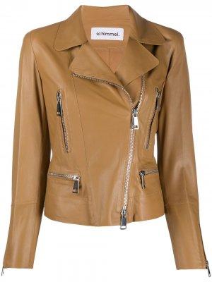 Байкерская куртка на молнии Metro Glove Sylvie Schimmel. Цвет: коричневый