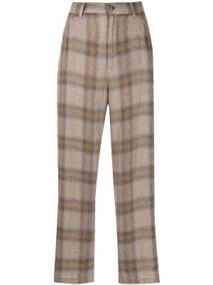 Прямые брюки Ida Barena. Цвет: коричневый