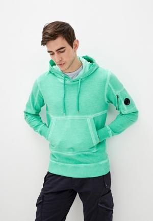 Худи C.P. Company. Цвет: зеленый