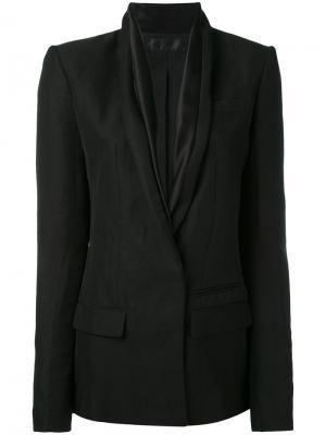 Пиджак с лацканами-шалькой Haider Ackermann. Цвет: черный