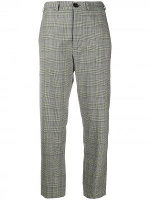 Укороченные брюки в клетку Vivienne Westwood. Цвет: белый