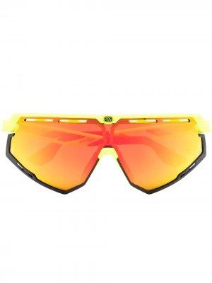 Футуристичные солнцезащитные очки Rudy Project. Цвет: желтый