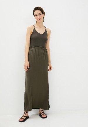 Платье Morgan. Цвет: хаки