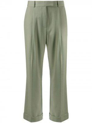Строгие брюки свободного кроя Frenken. Цвет: зеленый