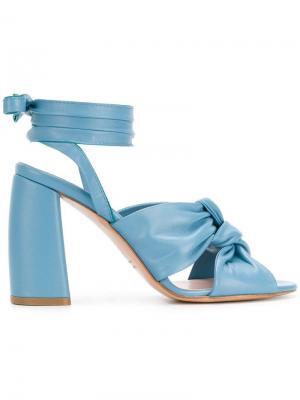 Сандалии на завязке Anna F.. Цвет: синий