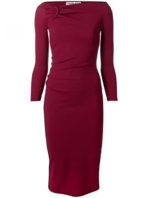 Top knot tube dress Le Petite Robe Di Chiara Boni. Цвет: красный