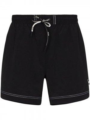 Плавки-шорты Tuna с кулиской BOSS. Цвет: черный
