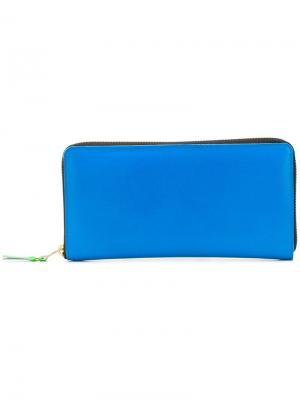 Кошелек с круговой молнией Comme Des Garçons Wallet. Цвет: синий