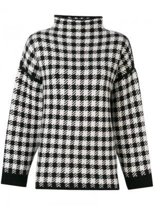 Клетчатый свитер Helena Dagmar. Цвет: черный