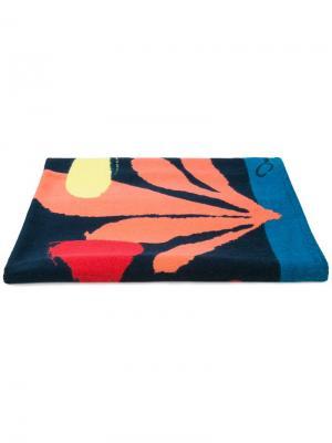 Пляжное полотенце Mykonos Oscar de la Renta. Цвет: синий