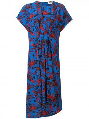 Платье с принтом феникса Kenzo. Цвет: синий