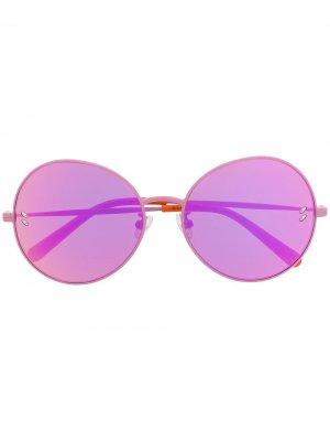 Солнцезащитные очки в круглой оправе с эффектом градиента Stella McCartney Kids. Цвет: розовый