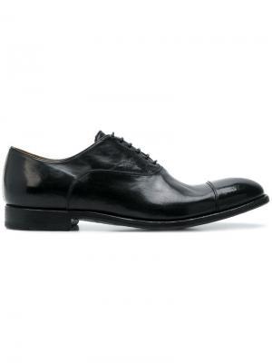 Оксфорды на шнуровке Alberto Fasciani. Цвет: черный