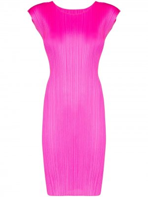 Плиссированное платье-трапеция Pleats Please Issey Miyake. Цвет: розовый