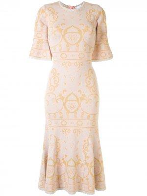 Жаккардовое платье Adore с узором Alice McCall. Цвет: розовый