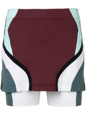 Облегающая юбка дизайна колор-блок No Ka' Oi. Цвет: коричневый