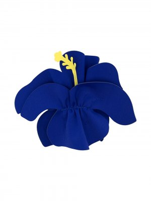 Заколка для волос с цветочной аппликацией Il Gufo. Цвет: синий