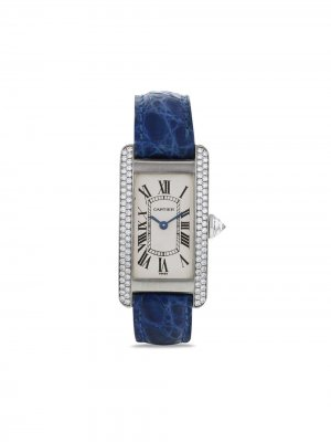 Наручные часы Américaine pre-owned 18 мм 2000-х годов Cartier. Цвет: синий