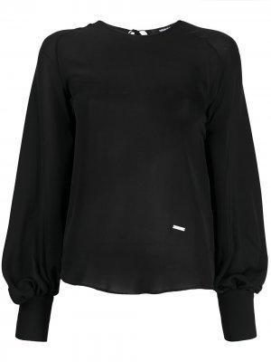 Блузка с пышными рукавами Dsquared2. Цвет: черный