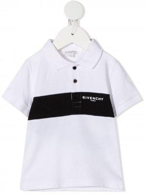 Рубашка поло с логотипом Givenchy Kids. Цвет: белый