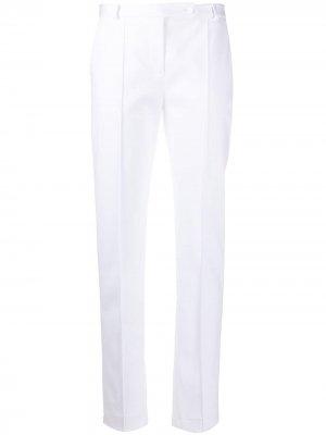 Зауженные брюки средней посадки Styland. Цвет: белый
