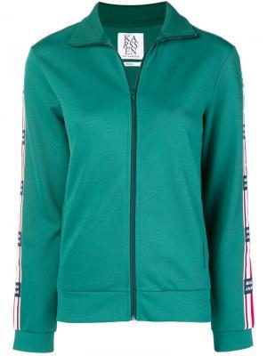 Спортивная куртка на молнии спереди Zoe Karssen. Цвет: зеленый