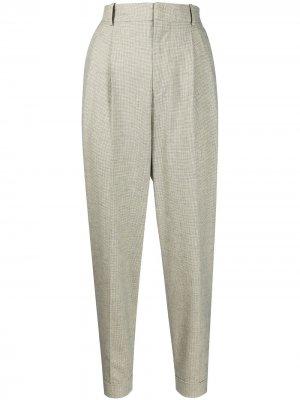 Укороченные брюки в клетку Isabel Marant Étoile. Цвет: желтый