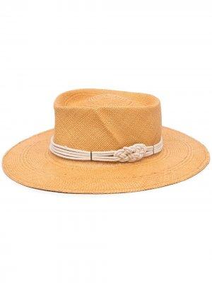 Плетеная шляпа Harlow Gladys Tamez. Цвет: нейтральные цвета