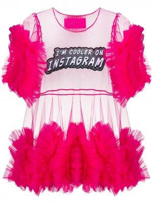 Тюлевая блузка с оборками Viktor & Rolf. Цвет: розовый