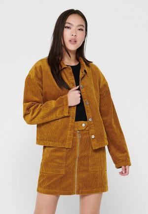 Рубашка Jacqueline de Yong. Цвет: коричневый