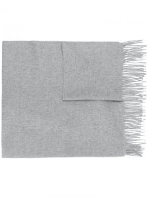 Шаль с бахромой N.Peal. Цвет: серый