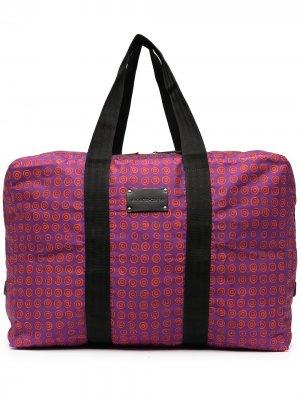 Дорожная сумка на молнии с монограммой 10 CORSO COMO. Цвет: purple - red