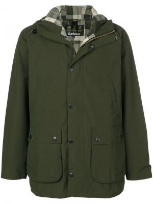Куртка с капюшоном в стиле casual Sl Beadle Barbour. Цвет: зеленый