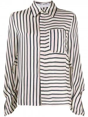 Рубашка в полоску Roland Mouret. Цвет: белый
